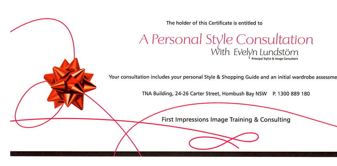 Personal Style Consult Gift Voucher