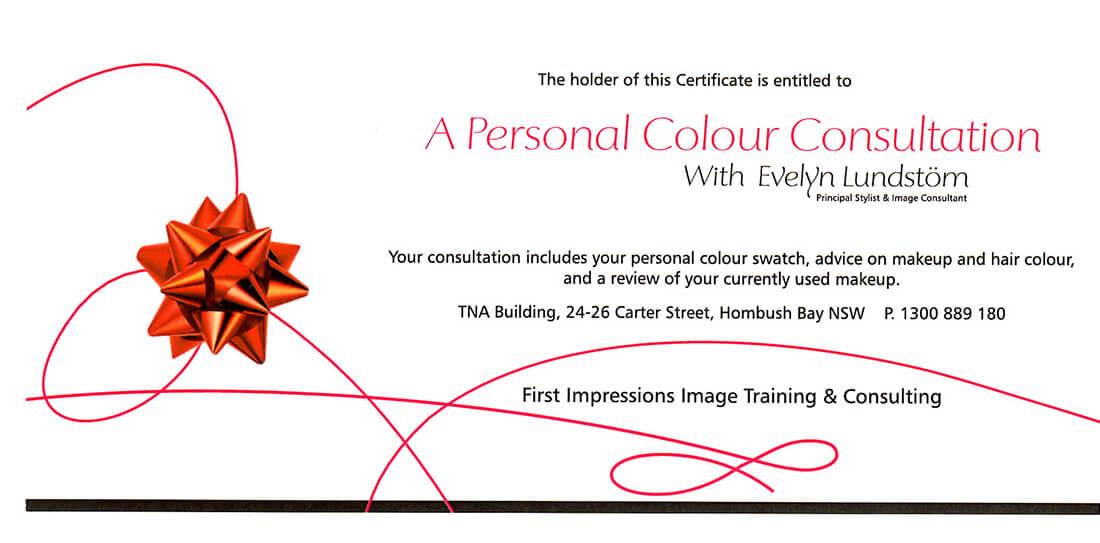 Colour Consult Gift Voucher