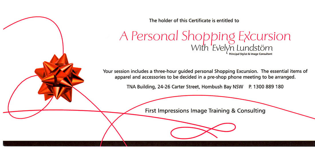 Shopping Excursion Gift Voucher