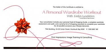 Personal Wardrobe Workout Gift Voucher